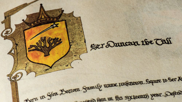 ser duncan game of thrones book george martin